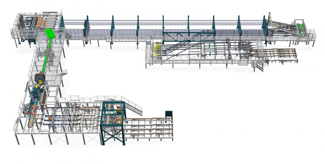 Planing sorting line