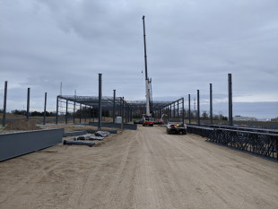 Steel erection started for the new CLT production hall