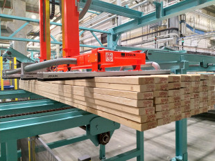 1. Vacuum de-stacking of timber