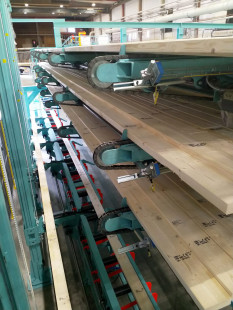7. Vertical conveyors to curing storage