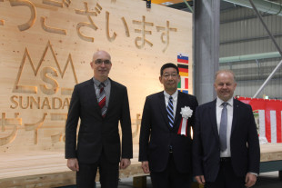 Opening ceremony of the new CLT plant in Japan