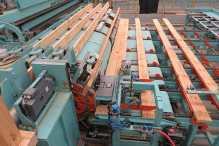 KONTIZINK 20 200 kN finger jointing line with capacity up to 20 pcs/min; 72 m/min