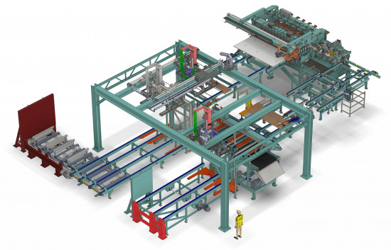 Z-Press for CLT cross layers at Stora Enso put into operation