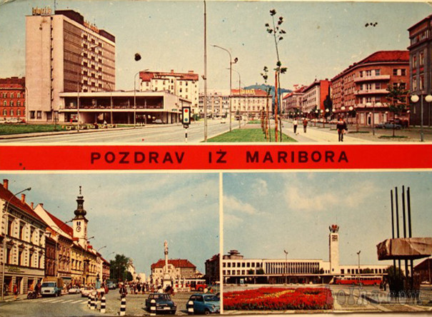 Postcard, Greetings from Maribor, 1971