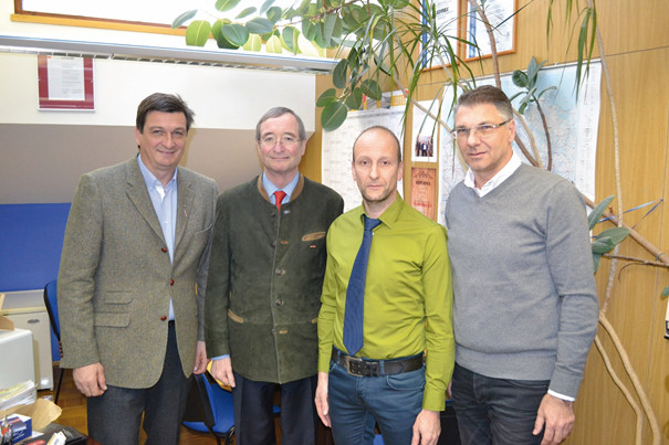 Visit of Presidents of Austrian and Carinthian Chamber of Commerce at the LMA headquarters in Bleiburg, January 2015.